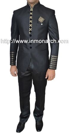 Black color pure polyester fabric 2 pc wedding tuxedo suit. The suit consists of one coat and one pant.