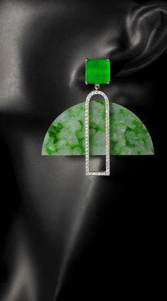 A truly regal pair of Burmese Jade earrings, a statement piece of the baerjewels collection Bespoke Jewellery, Fashion Jewellery, Fashion Accessories, Jade Earrings, Jade Jewelry, Dog Tag Necklace, Jewelery, Jewelry Making, Brooch