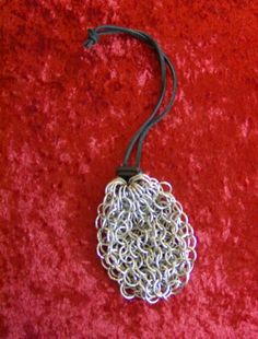 Chainmail Dice Bag stainless steel by worldinchainsmaille on Etsy