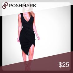 Boohoo Sexy Dress NWT. Super flattering fit and flattering material! Fits true to size and has some stretch to it. Boohoo Dresses Asymmetrical