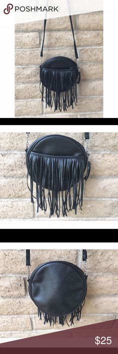 Black fringe purse Urban Outfitters black fringe purse. Crossbody with zipper. Excellent condition, worn 2-3 times. Urban Outfitters Bags Crossbody Bags