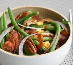 La salade de haricots verts, revisitée par Hervé. Découvrez cette recette haute en saveurs et en couleurs, pouvant aussi bien se déguster tiède que froide  ici >> http://www.bonduelle.fr/recettes/la-salade-de-haricots-verts-revisitee-par-herve #SurprenezVous et #regalez vous avec #Bonduelle #recettes #cuisine #food #recipes #cooking #salade #haricotvert