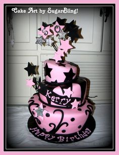 This is a pink leopard print handbag cake I made for a special