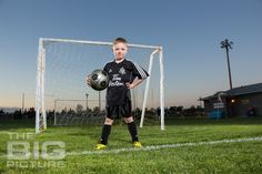 Jayden the Soccer Star. The BIG Picture children's photography.                                                                                                                                                                                 More