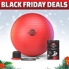 The Best Fitness Exercise Ball 65cm with Pump - Best for Abs - Stability - Tone - Core - Yoga - Pilates - Made with Anti-Burst Material - BONUS Holiday & workout Ebooks Included Featuring 20 Core Crushing Exercises & Workouts | http://activelifeessentials.com/health-and-fitness/abdominal-exercise-equipment/the-best-fitness-exercise-ball-65cm-with-pump-best-for-abs-stability-tone-core-yoga-pilates-made-with-anti-burst-material-bonus-holiday-workout-ebooks-included-feat
