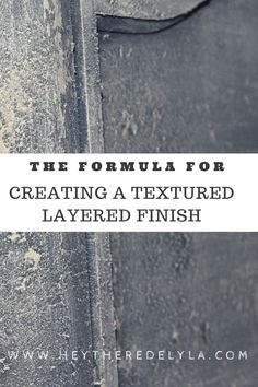 CANVAS ART IDEAS The formula for creating textured layered finishes on painted furniture - Hey There Delyla! Chalk Paint Techniques, Furniture Painting Techniques, Chalk Paint Furniture, Design Furniture, Diy Furniture, Furniture Refinishing, House Furniture, Furniture Projects, Stain Techniques