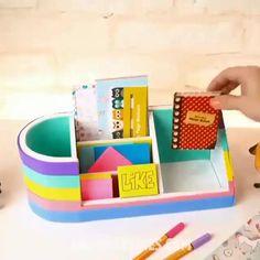 Cool Paper Crafts, Paper Crafts Origami, Fun Diy Crafts, Cardboard Crafts, Creative Crafts, Diy Paper, Diy Crafts For Teens, Diy Gifts, Diy Ideas