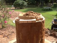 Brick placed, and sand dome started.....
