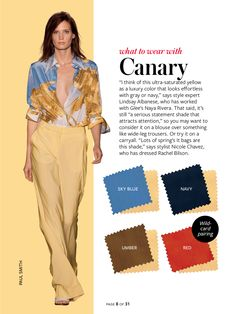 Instyle-What to wear with canary