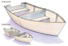 770_LG Build your boat with two 4-foot by 8-foot sheets of plywood, hardwood strips, brass screws and waterproof glue. Add gluing clamps and time at your workbench and you'll have a 3.5-foot-by-7-foot boat ready to launch. This blueprint also includes instructions for the optional sail unit. You can even add a motor to our back-to-basics dinghy. This blueprint includes a materials list, step-by-step instructions and great graphics. On sale for $3.25 at Mother Earth News Store.