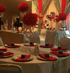 Hollywood Party Decoration Table Noel Sweet Sixteen Themes Quinceanera