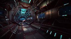 Sci-Fi Corridor by Vincent Lim at Toolbag Gallery | Marmoset