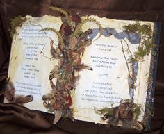 WITCH SPELLBOOK Primitive Halloween Autumn Decoration Magic Spell Book