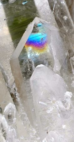 A beautiful piece of quartz....look at the places where you can find the rainbow, that the Lord spoke of leaving for us.