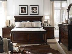 White walls dark bed