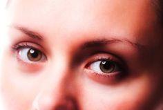 hazel eye of tan skin