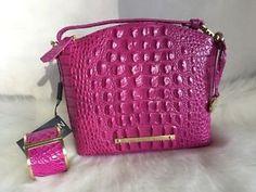 Brahmin Mini Duxbury Crossbody Dahlia Pink & Cuff Bracelet Gift Set  | eBay