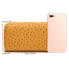59f618bfb6f364 Hot-sale Brenice Women 9 Card Holder Wallet Ostrich Pattern Long Purse Coin  Bag -