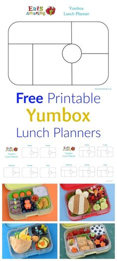 Free Printable Yumbox Classic and Yumbox Panino Lunch Planner Templates to download and print from Eats Amazing UK - perfect for planning school lunches