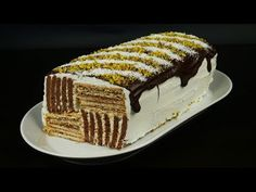 Mπισκοτογλυκό σοκολάτα-βανίλια χωρίς προσθήκη ζάχαρης Sugar free Chocolate- vanilla biscuit dessert - YouTube Greek Recipes, Cake Cookies, Food Videos, Mousse, Food And Drink, Sweets, Lunch, Candy, Homemade