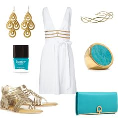 Grecian Beauty. Minus the shoes.