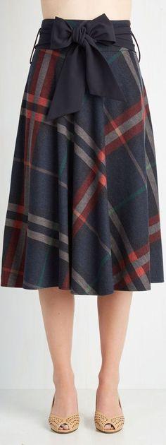 plaid A line skirt... - Street Fashion