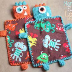 Monster Lovey Crochet Blanket