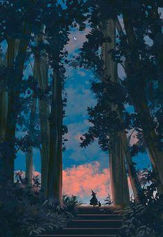 Aesthetic Painting, Aesthetic Art, Fantasy Landscape, Fantasy Art, Scenery Wallpaper, Anime Scenery, Aesthetic Wallpapers, Art Inspo, Pixel Art