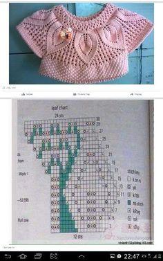 New crochet baby sweater vest ideas Baby Knitting Patterns, Knitting Charts, Knitting For Kids, Lace Knitting, Knitting Stitches, Crochet Patterns, Baby Patterns, Pull Crochet, Knit Crochet