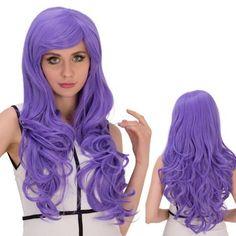 Inclined Bang Shaggy Long Wavy Synthetic Lolita Wig