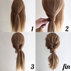 24 Wonderful And Easy Ponytail Hairstyles Tutorials - Bafbouf - - Easy hairstyles - Wedding Hairstyles Ponytail Hairstyles Tutorial, Braided Hairstyles, Hairstyle Ideas, Hairstyle Tutorials, Ponytail Easy, Easy Work Hairstyles, Ponytail Tutorial, Girl Hairstyles, Easy Hair Tutorials