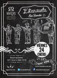 Ilustración y diseño de flyer para el evento de Son Jarocho en el Restaurant Mardel.