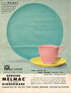 Melmac dishes, June 1960