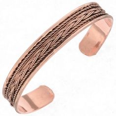 Therapeutic Copper Cuff Braided Twist Bracelet Copper Cuff, Copper Bracelet, Copper Jewelry, Wire Jewelry, Cuff Bracelets, Native American, Clothes, Outfits, Clothing