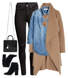 """What I'd Wear"" by monmondefou ❤ liked on Polyvore featuring H&M, Harris Wharf London, Yves Saint Laurent, Topshop, Christian Dior, Fall, black, denim and camel"