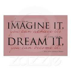 William Ward Imagine Quote Print