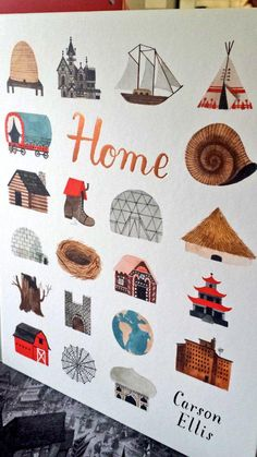 Finished copies of Carson Ellis' #HOME - it is SO very covetable. Everyone in the office will be trying to nab a copy!