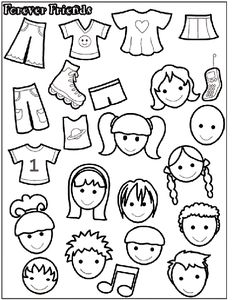 Forever Friends 2 coloring page can laminate and turn these into felt or magnet dolls