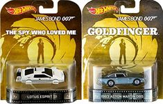 007 Goldfinger Spy Who Loved Me Retro Entertainment Hot Wheels James Bond 2 car Aston Martin DB5 & L @ niftywarehouse.com #NiftyWarehouse #Geek #Gifts #Collectibles #Entertainment #Merch
