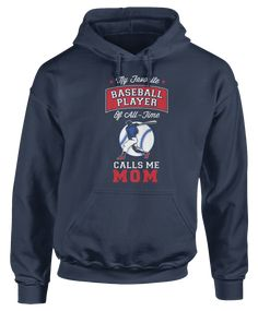 """""""My Favorite Baseball Player Of All-Time Calls Me Mom"""" - Baseball Player Apparel x Family Mom Gear - The perfect gift, gear, or clothing for moms who love their baseball player! Great for the holidays! Volleyball Quotes, Volleyball Gifts, Coaching Volleyball, Girls Softball, Softball Players, Volleyball Drills, Girls Basketball, Call My Mom, Call Me"""