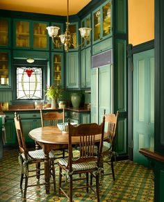 Antique Paint Colors for Historic Houses - This Old House Victorian Living Room, Victorian Kitchen, Victorian Homes, Victorian Era, Victorian Interiors, 1930s Kitchen, Antique House, Victorian Furniture, Antique Furniture