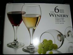 Winery 12 oz Wine glasses Set of 6 by Libbey. $27.99. Winery style. Set of 6 Wine glasses. 12 Fluid oz each. Winery 12 oz Wine glasses Set of 6