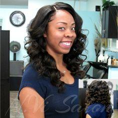 Beautiful Full Sew In and Curl