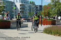 Cyklande poliser i Nyköping