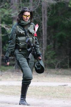 Italian Army Lady