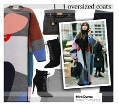 """Chic Oversized Coats"" by ivka-detektivka ❤ liked on Polyvore featuring Hermès, Lands' End, Allude, Boohoo, GetTheLook, miraduma and oversizedcoats"