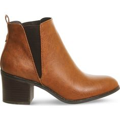 Office Lexi faux-leather chelsea boots (€64) ❤ liked on Polyvore featuring shoes, boots, faux leather shoes, synthetic leather boots, high heel chelsea boots, high heel shoes and faux-fur boots