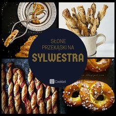 1) Wytrawne serowe biscotti http://cooklet.com/pl/przepis/8717/wytrawne-serowe-biscotti-z-zielonym-pieprzem-i-suszonymi-pomidorami  2) Paluchy z ciasta francuskiego http://cooklet.com/pl/przepis/6092/paluchy-z-ciasta-francuskiego-z-pesto-z-jarmuzu  3) Zakręcane paluszki z ciasta francuskiego z cheddarem i boczkiem  http://cooklet.com/pl/przepis/5972/zakrecane-paluszki-z-ciasta-francuskiego-z-cheddarem-i-boczkiem  4) Precle z dynią  http://cooklet.com/pl/przepis/8642/precle-z-dynia