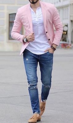 Mens Casual Dress Outfits, Blazer Outfits Men, Dress Suits For Men, Formal Men Outfit, Mens Fashion Blazer, Casual Wear For Men, Stylish Mens Outfits, Suit Fashion, Fashion Menswear