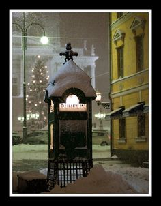 Telephone Booth, Helsinki, Finland Meanwhile In Finland, Finland Culture, Finland Food, Finland Country, Family Tree For Kids, Visit Helsinki, Telephone Booth, Scandinavian Countries, Winter Snow